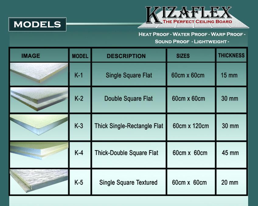 KIZAFLEX  MODELS